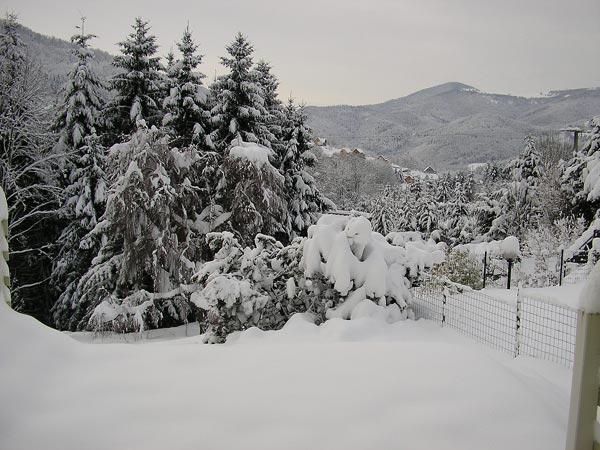 Location chalet Saint-Amarin sous la neige