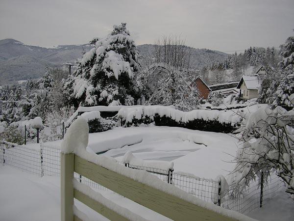 Location chalet Saint-Amarin en hiver